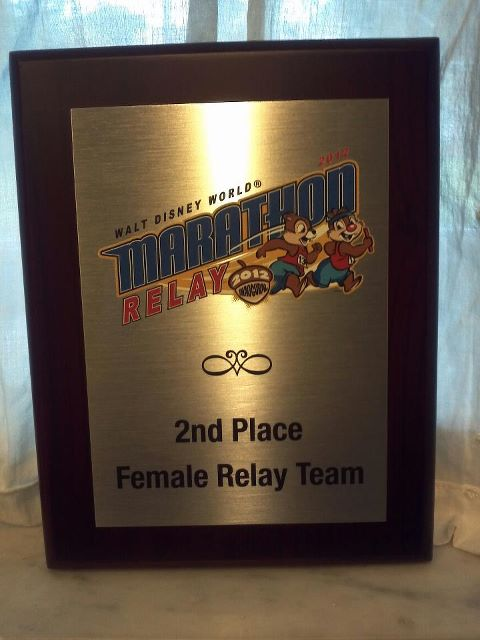 2nd Overall Female Relay Team Award